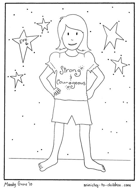 vbs coloring pages armor of god 2