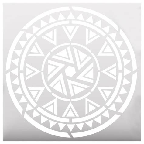 Bathroom Stencil Ideas aztec mandala style stencil contemporary wall stencils