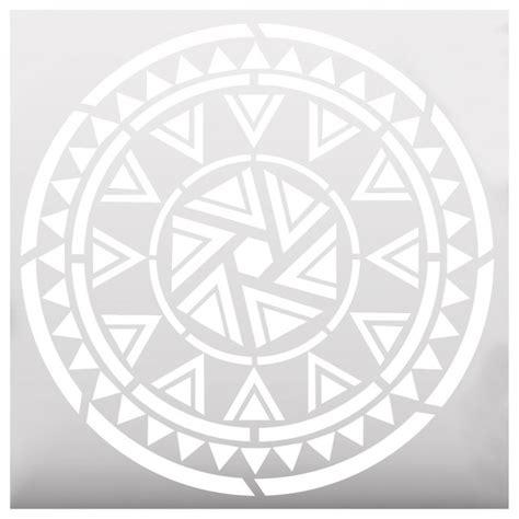 Aztec Mandala Style Stencil   Contemporary   Wall Stencils   by Oleksandr Bovtenko