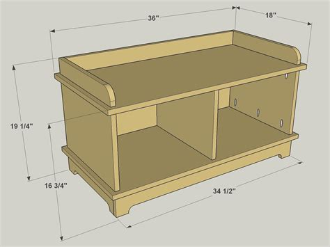 entryway storage bench plans entryway bench buildsomething com