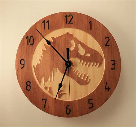 wood clock designs pine t rex clock dinosaur clock wood clock wall clock wooden