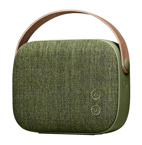 Cloth Bluetooth Speaker helsinki bluetooth speaker bluetooth fabric leather green by vifa