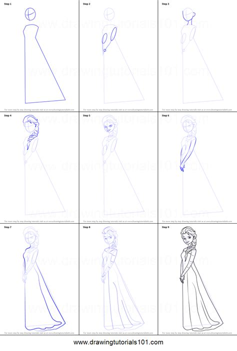 doodle draw how to draw elsa how to draw elsa from frozen printable step by step