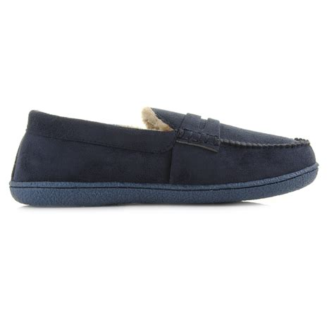 slipper style loafers mens comfort faux suede moccasin loafer style slippers shu