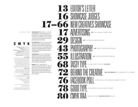 table of contents design 30 excellent exles from