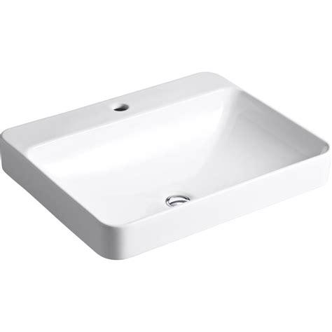 Kohler K 2660 1 0 Vox White Above Counter Single Bowl Bathroom Sinks eFaucets.com