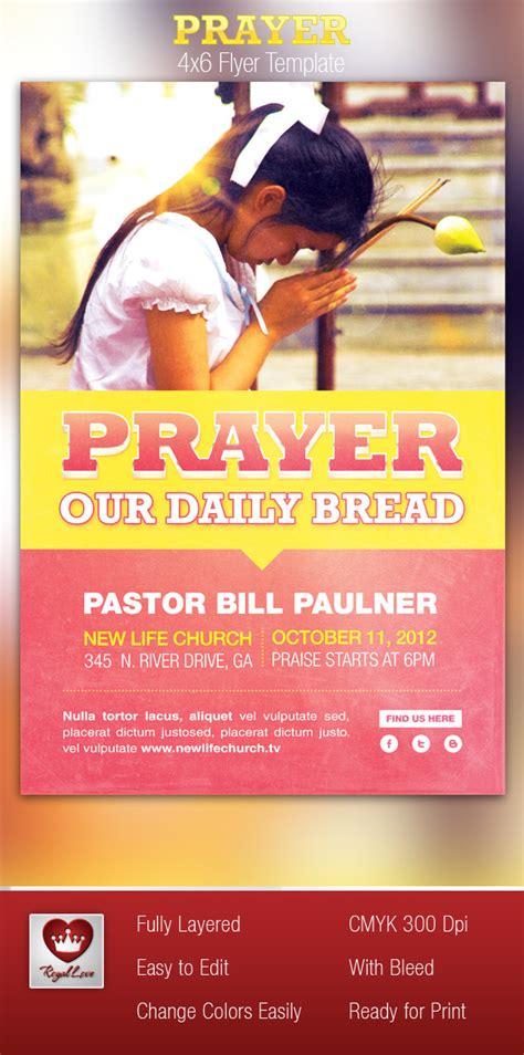 prayer church flyer template on behance