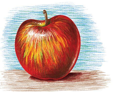 colored apple colored pencil apple