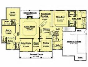 4 bedroom cabin plans traditional country home floor plan four bedrooms plan