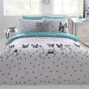 Turquoise Bedding Sets King Ben De Lisi Home Designer White Dotty About Dogs Bedding