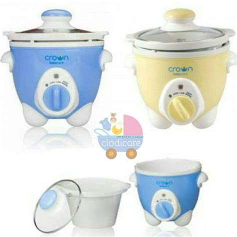 Rice Cooker Bubur Bayi jual crown cooker 1 liter alat pembuat nasi tim atau