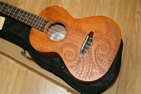 luna tattoo ukulele tenor ukulele mahogany design at bristol