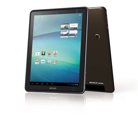 new android tablets archos 97 carbon elements android tablet new product pc advisor