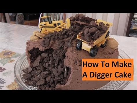 digger cake template how to make a digger excavator birthday cake