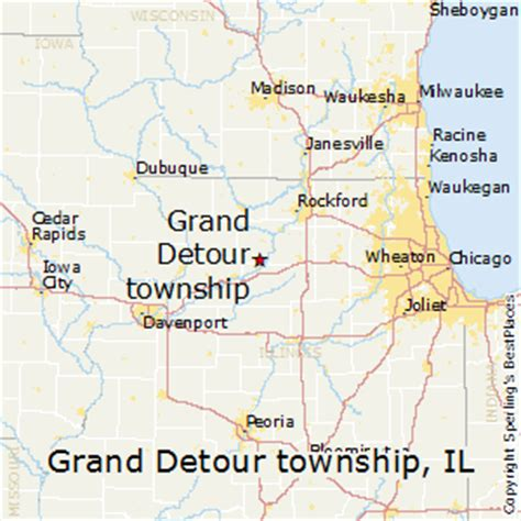 grand il map best places to live in grand detour township illinois