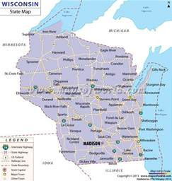 wisconsin map map of wisconsin road maps of the united states