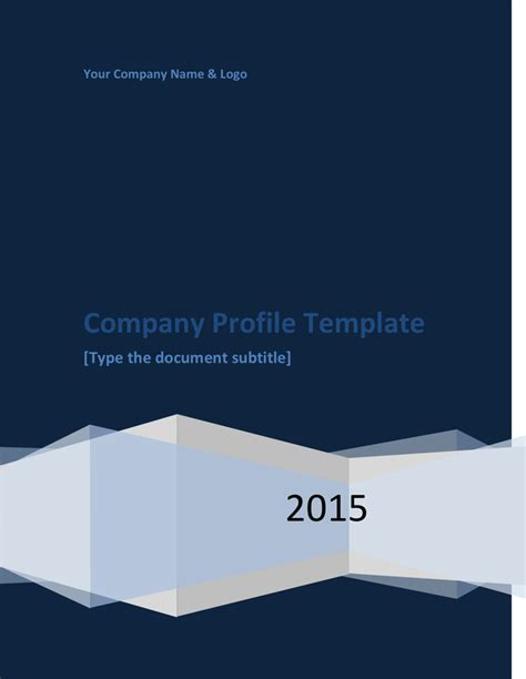 company profile template in word and pdf formats