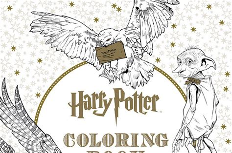 harry potter coloring book finished here s a look inside the harry potter coloring book