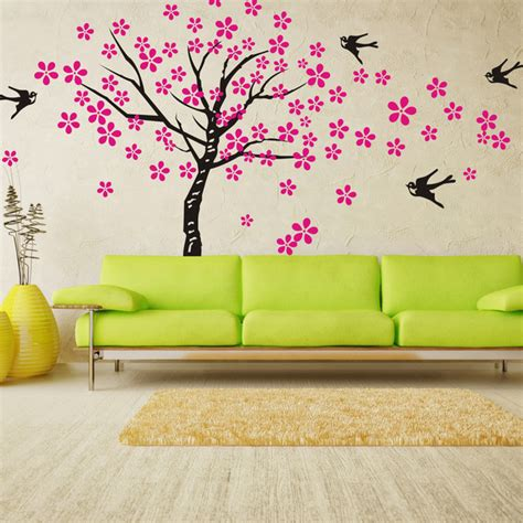 wall stickers for bedrooms kids tree wall decals birds nature nursery wall decals children