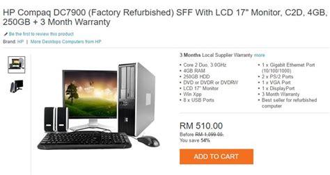 Monitor Komputer Yang Murah by Beli Komputer Murah Refurbished Malaysia Ecommerce In