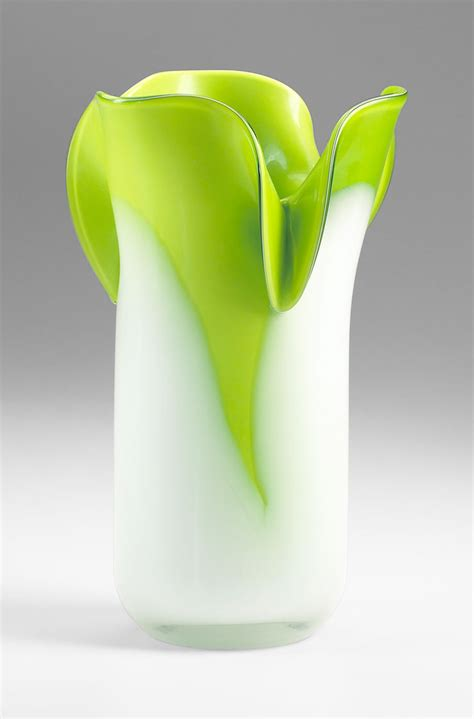 small andre green glass vase by cyan design
