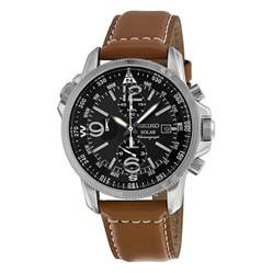 Watches Chronograph Seiko Prospex Solar Chronograph Compass Black S