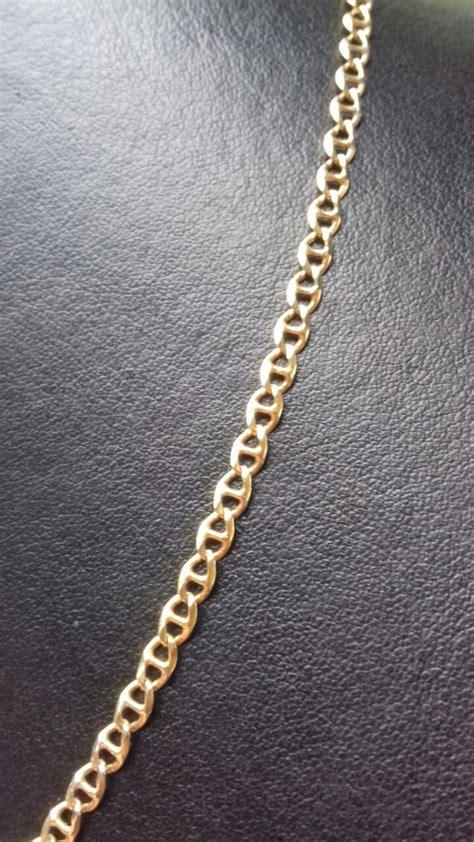 cadena de plata 14 kilates cadena para caballero de 14 kilates estilo escalera