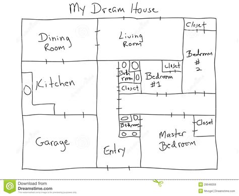 how to design a house my dream house stock illustration image of planning