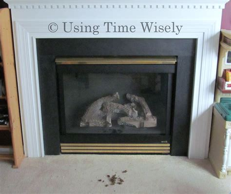 cleaning our gas fireplace