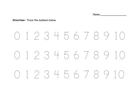 printable numbers kindergarten number practice sheets worksheets releaseboard free