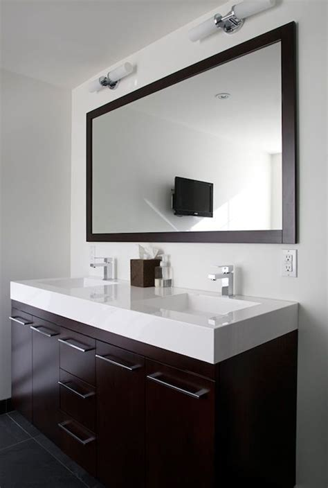 Modern Bathroom Countertops by Modern Bathroom Design With Gray Slate Tiles Floor
