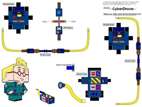 Ghostbusters Papercraft - cubee ghostbusters extras by cyberdrone on deviantart