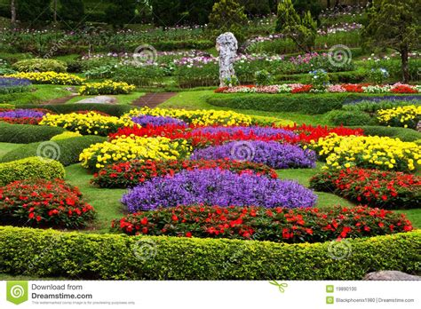 Photo Flower Garden Flower Garden Stock Photo Image Of Garden Grow Landscape 19890100