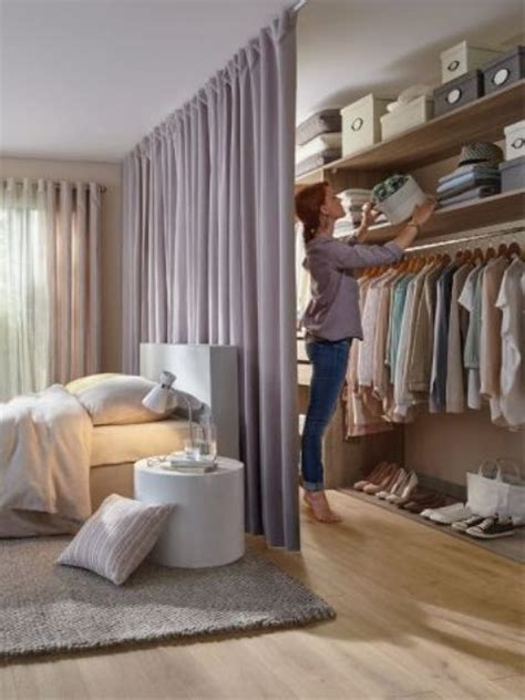 bedroom closet curtains 25 ways to use curtains as space dividers digsdigs
