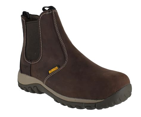 slip on work boots dewalt radial mens steel toe sbp safety dealer slip on