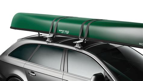 How To Attach Kayak To Roof Rack by Thule Portage Canoe Carrier W Tie Downs Gunwale Brackets Side Loading Thule Watersport