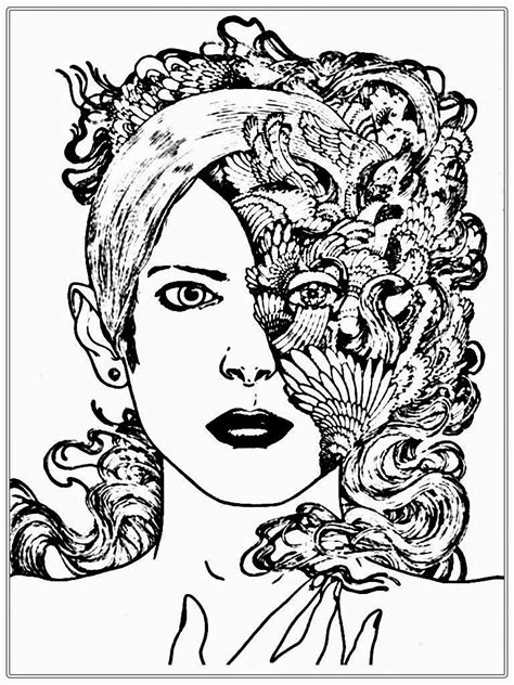 coloring pages of people s faces fantastic adult coloring pages printable realistic