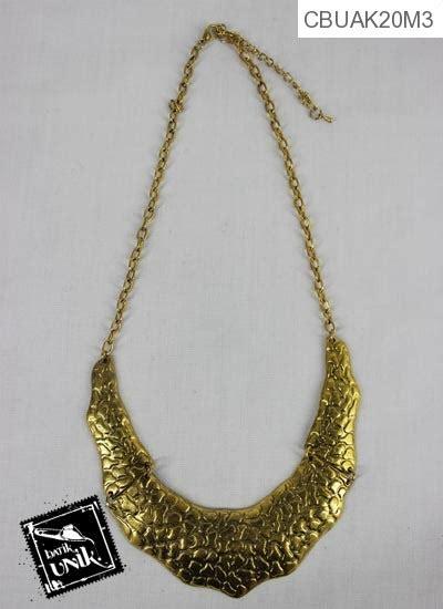 Kalung Batik Etnik Kuning kalung coker tembaga bagar emas kalung etnik murah