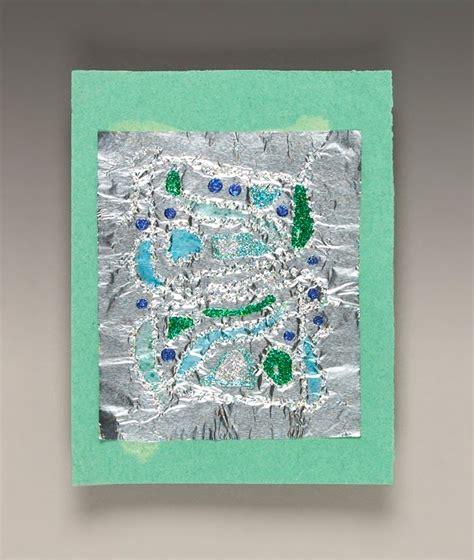 aluminum foil crafts for glittering foil craft crayola