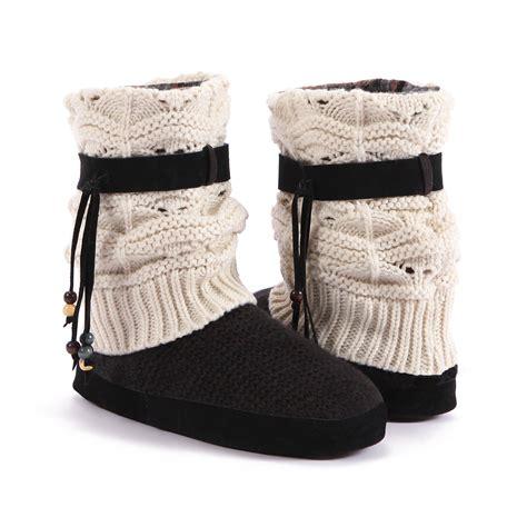 muk luk slipper muk luks 174 s 8 quot white sofia slipper boot