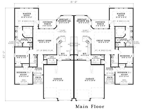 single story multi family house plans 25 best ideas about duplex plans on pinterest duplex house plans duplex floor
