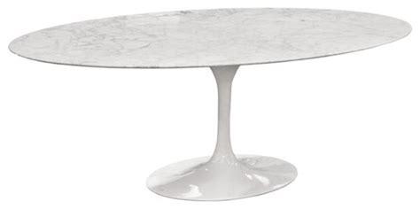 Eero Saarinen Oval Tulip Table Cararra Marble By Rove Oval Tulip Dining Table