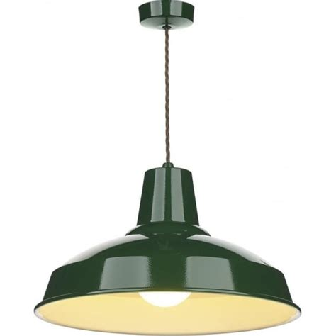Retro Style Pendant Lighting Industrial Retro Style Metal Ceiling Pendant Light In Racing Green