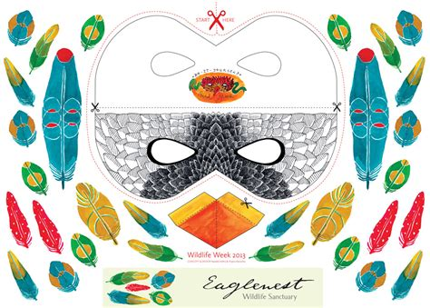 Parrot Mask Printable