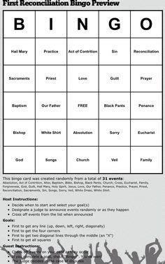 reconciliation bingo religious things
