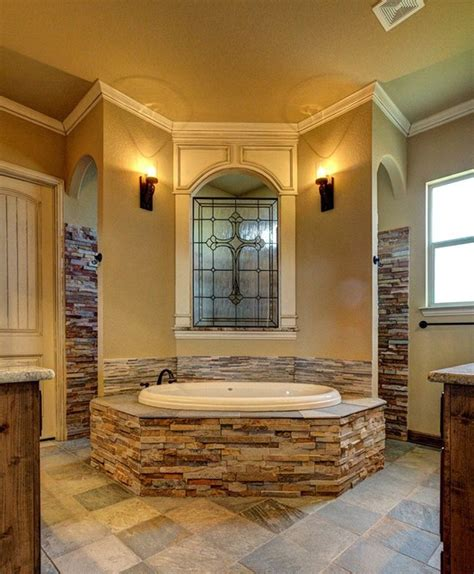 bailee custom homes rustic bathroom dallas by q