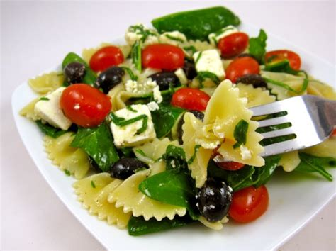 bow tie pasta salad with basil ribbons peggy