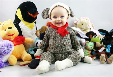 diy sock monkey costume quot 2010 quot thrift store thursday sock monkey baby