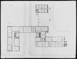 bauhaus floor plan from the harvard art museums collections bauhaus building dessau 1925 1926 second floor plan