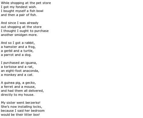 pet poems gt my poetic side